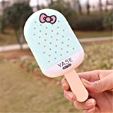 Ergou Fan New Ice Cream Popsicle Creative Fan Mignon Cartoon Charge Enfants Voyage en Plein air Portable, Bleu