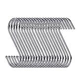 30 packs de crochets de suspension en forme de S des cintres 8,9 cm pour cuisine, la salle de bain, la chambre...