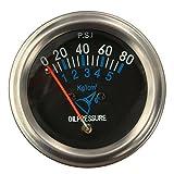 YONGYAO Indicateur De Pression Huile Carburant Mécanique Automobile Électrique 12V DC Black FG