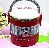 1.8L Disney Mickey Mouse Écosse classique en acier inoxydable Isolation thermique Boîte à lunch Pot...
