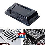 Odster Car Black Engine Cowl Capot Cover Vent Scoop Garniture Automobile ¨¦tanche r¨¦sistant ¨¤ la...