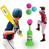 QERITA Enfants Baseball Lanceur Set Extérieur Entraînement Batte Jouets Jeux Marrants Noël Cadeaux