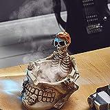 MEIDI Home Pépinière Meubles Maison Cendrier en Céramique Cadeau Halloween Pirate Crâne Statue Salon Punk...
