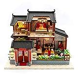Modèle de bâtiment de maison de puzzle bricolage modèle artisanat assemblé à la chinoise de style...