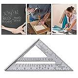 Triangle carré Règle métrique pouces 90Mesure Angle incliné Cadre Mesure menuiserie Règle Mesure de...