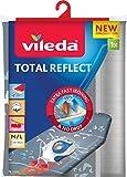 Vileda Total Reflect Housse de Planche à Repasser Taille Universelle jusqu'à 45x130 cm, Tissu Technologie...