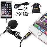 Lavalier Micro-Cravate Omnnidirectional Microphone à condensateur avec Système de Fixation sur Clip pour...
