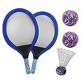 YIMORE Raquettes de Tennis Badminton Set Tennis Jeux Exterieur Ball Jouet de Plage en Plein air pour Enfant 3...