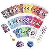 Poudres de Mica Colorant de Savon Pigments Perle 30 x 10g Maquillage Dye Set pour Bombes de Bain Peinture...
