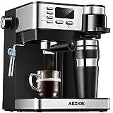 Aicook Machine à Café Espresso, Cafetiere Italienne 3 in 1 ( Machine à expresso et cappuccino avec mousseur...