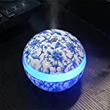 Mini humidificateur USB Portable, Bleu et Blanc en Porcelaine Maison Aroma LED humidificateur air diffuseur...