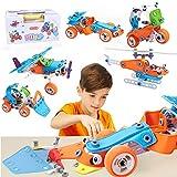 Kuman Jouet de Construction 148Pcs pour Enfants, Jouet Pédagogique de Construction, Kit de Jouet Educatif...