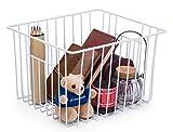SANNO Organisateur de casiers de panier de stockage de fil de ménage avec des poignées pour la cuisine,...