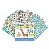 MozArt Supplies Set Origami Aventure - 120 feuilles- Feuilles de papier origami traditionnel japonais avec 40...
