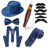 Beelittle des années 1920, Ensemble d'accessoires pour Hommes, Chapeau de Manhattan, Bretelles en Y-Back,...