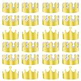 TUPARKA 36 pièces Roi doré couronnes Feuille d'or Papier Chapeau de Couronne de Parti Chapeau pour...