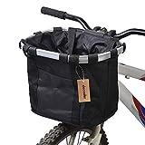 Docooler Panier de Vélo Détachables Cycle Avant Toile Panier Transporteur Sac Pet Carrier en Alliage...