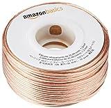 AmazonBasics Câble audio pour haut-parleur Calibre 16 Section 1,3 mm² Longueur 30,4 m