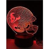 Veilleuse Optical Illusion Lamp Collection Équipe De Mode Logo 3D Led Veilleuse 7 Changement De Couleur...