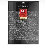 Arteza Papier Carbone Pour Transfert, Qualité Artiste, Papier Graphité de Transfert Par Traçage sur le...