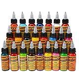 LVYY Encre Professionnelle De Colorant De Tatouage 14 Encre De Tatouage De Couleurs De Base 1 Once 30ml /...