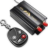 AFUNTA véhicules de GPS Tracker 103B Avec contrôle à distance GSM alarme fente pour carte SD antivol...