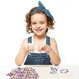 Perles pour Enfants,DIY Perles Plastique Coloré 24 Compartiments Kit De Loisirs Créatifs L'atelier De Bijoux...