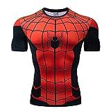 T-Shirt d'impression 3D Spiderman Marvel Hero T-Shirt De Sport à Manches Courtes De Remise en Forme A-S