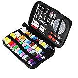 TUXWANG Kit de Couture avec Accessoires de Couture Premium 90pcs avec étui de Transport, 24 bobines de Fil -...