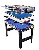 AIPINQI Multifonctions 4en 1Combo Jeu de Table, Table de Billard, Table de babyfoot, Hockey de Table,...