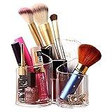 Acelectronic Organisateur de Maquillage – 3 espaces Coton-Pad Distributeur Boîte de Rangement en Acrylique...