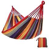 SONGMICS Hamac de Voyage Respirant Portable 210 x 150 cm Charge maximale: 300 kg Multicolore