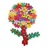 Nahuaa 100 Pièces Fleur Feutre Fleurs en Tissus à Coudre pour Decoration Mariage Bricolage Artisanat...