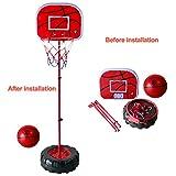 Fajiabao Panier de Basket Enfant Pied Réglable en Hauteur Jeux Interieur Exterieur