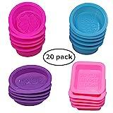 Le savon de silicone de 20 PCs faisant des moules, forme ronde ovale carrée, moule de cuisson de FineGood...