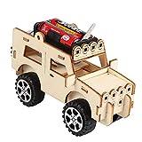 NiceButy 1pc Woodcraft Jouet en Bois Jeep Voiture Kit de Construction en Bois Modèle 3D Puzzle en Bois...