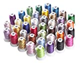 Simthreads Polyester Fil de Machine à Broder pour Brother/Babylock/Janome/Singer/Kenmore Machine, 500...