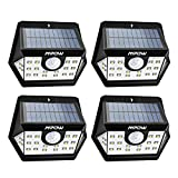 Mpow [Version Avancée] Lampe Solaire 4 Pack 20 LED Etanche Détecteur de Mouvement Temps d'éclairage 30s,...