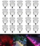 Lot de 20 LED Spot de lampe au sol - RGB/RVB Ø30mm Eclairage Encastrables extérieur pour Terrasse Enterre,...