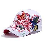Qchomee Casquette de baseball réglable pour parents, enfants, femmes, filles En coton Papillon brodé Hip-hop...