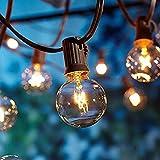 OxyLED Guirlandes Lumineuses,Lumières de Ficelle extérieures, [Version améliorée] G40 25ft Globe Patio...