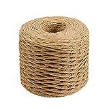 SUPVOX 200M Ruban de Papier de Raphia Artisanat d'emballage Ficelle de Papier Corde de Papier pour Cadeaux...