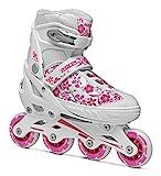 Roces Compy 8.0Rollers pour Fille, Fille, Inline-Skates Compy 8.0, Blanc/Violet