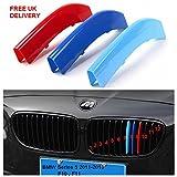 12barrettes M - BMW5 séries F10, F11, 2011-2013 - –Languettes pour grille de prise d'air, à...