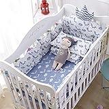 LY-LD Ensembles de Pare-Chocs de lit de bébé de 4 pièces, Doux Respirant Coton Coussin de Berceau...