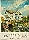 Voyage vintage Essex et de voyage par Rail avec Londres et North Eastern Railway C1945250g/m² Brillant...