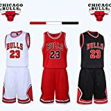 unbrand Enfant garçon NBA Michael Jordan # 23 Chicago Bulls Short de Basket-Ball Retro Maillots d'été...