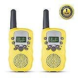 QZT T388 Talkies Walkies Enfants PMR446 8 Canaux Écran LCD Lampe Torche Fonction VOX 10 Tonalités d'Appel...