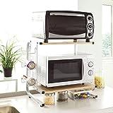 SoBuy FRG092-N Étagères micro ondes de cuisine Mini-étagère Four Micro-ondes Meuble rangement cuisine de...