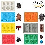Sunerly Coque en silicone bac à glaçons Moules dans Star Wars personnage formes, idéal pour le chocolat,...